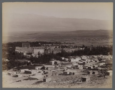 View from Site in Northern Africa or Syria, 19th century. Albumen silver photograph, 8 9/16 x 11 in. (21.8 x 28 cm). Brooklyn Museum, Gift of Samuel Kirschenbaum, 86.265.12