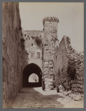 View of Site in Northern Africa or Syria, 19th Century. Albumen silver photograph, 11 x 8 7/16 in. (28 x 21.5 cm). Brooklyn Museum, Gift of Samuel Kirschenbaum, 86.265.1
