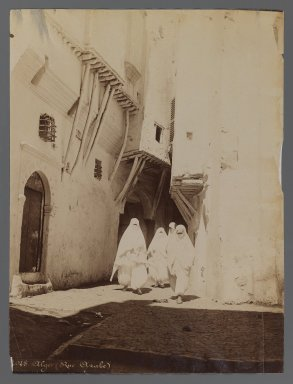 View from Site in Northern Africa or Syria, 19th Century. Albumen silver photograph, 10 1/8 x 7 5/8 in. (25.7 x 19.4 cm). Brooklyn Museum, Gift of Samuel Kirschenbaum, 86.265.2