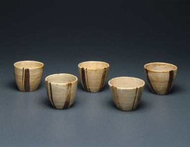 Kitaoji Rosanjin (Japanese, 1883-1959). Piece from Mukozuke Set, 20th century. Stoneware, Oribe ware, 2 3/4 x 3 3/8 in. (7 x 8.6 cm). Brooklyn Museum, Gift of Dr. and Mrs. John P. Lyden, 86.271.41. Creative Commons-BY