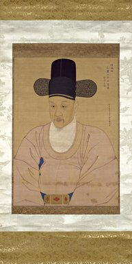 Portrait of Chief Minister Han Ik-mo, last half of 18th century. Ink and light color on silk, 28 1/2 x 20 1/4 in. (72.4 x 51.4 cm). Brooklyn Museum, Gift of Dr. and Mrs. John P. Lyden, 86.271.7