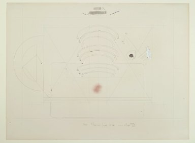 Pat Steir (American, born 1940). More Magical Fear Map -  Map VI, 1971. Graphite, colored pencil, ink, crayon, pastel, and watercolor on paper, 14 15/16 x 20 in. (37.9 x 50.8 cm). Brooklyn Museum, Gift of Dr. Barry and Shea Gordon Festoff, 86.291.1. © Pat Steir