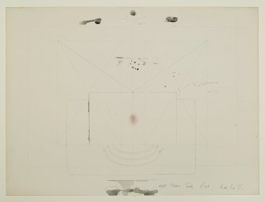 Pat Steir (American, born 1940). Most Magical Fear Map - Map No. VII, 1971. Graphite, colored pencil, ink, pastel, watercolor, and crayon on paper, 14 15/16 x 20 in. (37.9 x 50.8 cm). Brooklyn Museum, Gift of Dr. Barry and Shea Gordon Festoff, 86.291.2. © Pat Steir