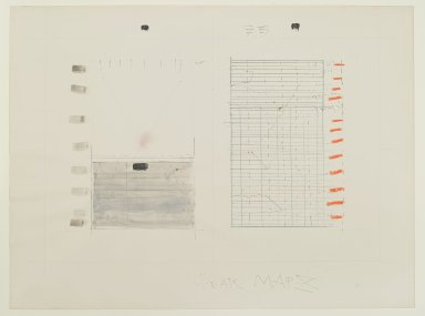 Pat Steir (American, born 1940). Fear Map X, 1971. Graphite, colored pencil, ink, wash, pastel, and crayon on paper, 15 x 20 in. (38.1 x 50.8 cm). Brooklyn Museum, Gift of Dr. Barry and Shea Gordon Festoff, 86.291.5. © Pat Steir