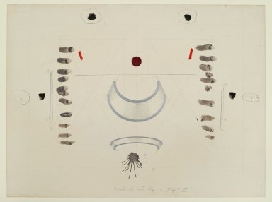 Pat Steir (American, born 1940). Superficial Fear Map - Map XI, 1971. Graphite, colored pencil, ink, wash, pastel, gouache, and crayon on paper, 15 x 20 in. (38.1 x 50.8 cm). Brooklyn Museum, Gift of Dr. Barry and Shea Gordon Festoff, 86.291.6. © Pat Steir