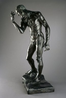 Auguste Rodin (French, 1840-1917). Pierre de Wiessant, Monumental Nude (Pierre de Wissant, nu monumental), 1886, cast 1983. Bronze, 78 1/4 x 44 3/4 x 36 1/2 in.  (198.8 x 113.7 x 92.7 cm). Brooklyn Museum, Gift of the B. Gerald Cantor Collection, 86.310. Creative Commons-BY