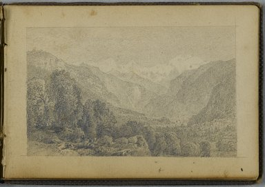 William Trost Richards (American, 1833-1905). Sketchbook, 1867. Bound sketchbook with drawings in graphite on beige, moderately thick, smooth textured wove paper, Closed: 3 5/8 x 5 1/4 in. (9.2 x 13.3 cm). Brooklyn Museum, Gift of Edith Ballinger Price, 86.53.5