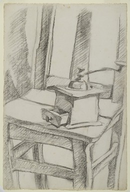 Juan Gris (Spanish, 1887-1927). The Coffee Grinder (Le Moulin à Café), 1911. Charcoal on laid paper, Image: 18 3/4 x 12 1/2 in. (47.6 x 31.7 cm). Brooklyn Museum, Purchased with funds given by Henry and Cheryl Welt, 86.64