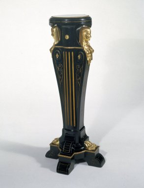 Kimbel and Cabus (1863-1882). Pedestal, 1865-1875. Ebonized wood, gilt metal mounts, 42 1/2 x 17 1/2 x 17 1/2 in.  (108.0 x 44.5 x 44.5 cm). Brooklyn Museum, Gift of the American Art Council, 86.81. Creative Commons-BY