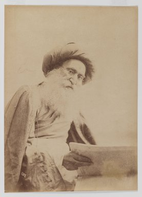 Photographic Portrait of Dr. Nur Mahmoud, 19th Century. Albumen silver photograph, 13 9/16 x 10 1/2 in. (34.4 x 26.7 cm). Brooklyn Museum, Special Middle Eastern Art Fund, 86.86.5