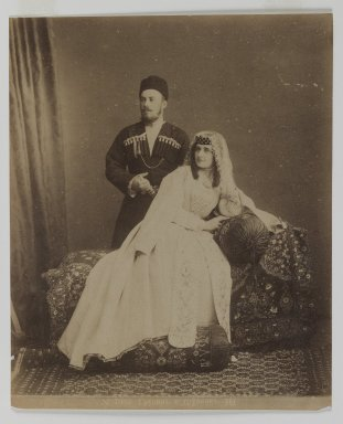 [Untitled], 19th Century. Albumen silver photograph, 13 9/16 x 10 1/2 in. (34.4 x 26.7 cm). Brooklyn Museum, Special Middle Eastern Art Fund, 86.86.9