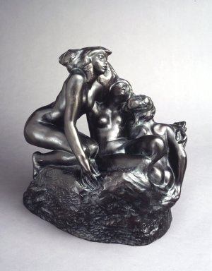 Auguste Rodin (French, 1840-1917). The Sirens (Les Sirènes), 1880s, cast 1967. Bronze, 17 x 17 1/4 x 12 5/8 in. (43.2 x 43.8 x 32.1 cm). Brooklyn Museum, Gift of the Iris and B. Gerald Cantor Foundation, 86.87.1. Creative Commons-BY
