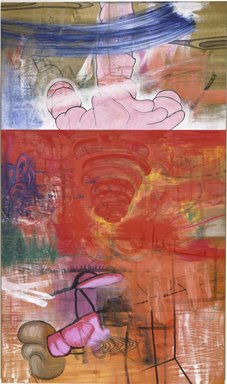 Carroll Dunham (American, born 1949). No Nature, 1985-1986. Mixed media on wood veneer, 58 x 34 in. (147.3 x 86.4 cm). Brooklyn Museum, Purchased with funds given by Arthur Cohen in memory of Ben Cohen and John B. Woodward Memorial Fund, 86.91. © Carroll Dunham