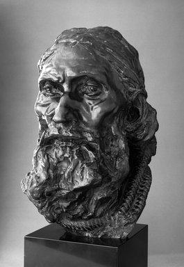 Auguste Rodin (French, 1840-1917). Eustache de Saint-Pierre, Final Head, With Rope Around the Neck (Eustache de Saint-Pierre, tête définitive, avec corde autour de cou), ca. 1886; cast ca. 1983. Bronze, 16 1/4 x 9 5/8 x 11 1/2 in. (41.3 x 24.4 x 29.2 cm). Brooklyn Museum, Gift of Iris and B. Gerald Cantor, 87.106.1. Creative Commons-BY