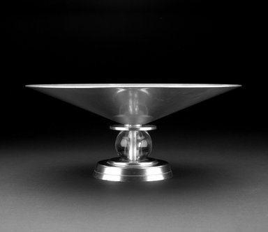 Lurelle Guild (American, 1898-1985). Bowl or Compote, ca. 1934. Aluminum, plastic, 6 x 13 1/2 x 13 1/2 in. (15.2 x 34.3 x 34.3 cm). Brooklyn Museum, Gift of Alan Moss Ltd., 87.118. Creative Commons-BY