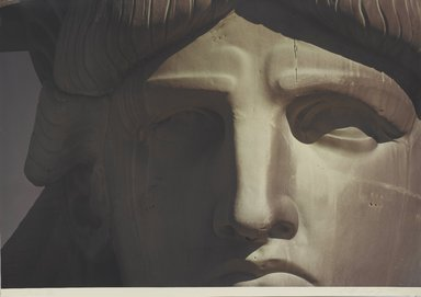 Ruffin Cooper (American, 1942-1992). Face (Statue of Liberty), 1979. Chromogenic photograph, image: 32 3/4 x 48 1/16 in. (83.2 x 122 cm). Brooklyn Museum, Gift of the artist, 87.149.6