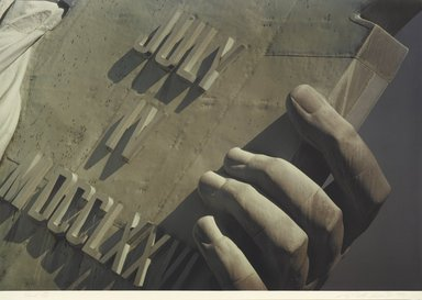 Ruffin Cooper (American, 1942-1992). Hand (Statue of Liberty), 1979. Chromogenic photograph, image: 32 3/4 x 48 1/16 in. (83.2 x 122 cm). Brooklyn Museum, Gift of the artist, 87.149.7