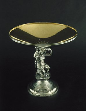 Gorham Manufacturing Company (founded 1865). Compote, ca. 1868. Silver, 8 3/4 x 9 x 9 in. (22.2 x 22.9 x 22.9 cm). Brooklyn Museum, H. Randolph Lever Fund, 87.180. Creative Commons-BY