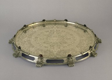 Tiffany & Company (American, founded 1853). Tray or Waiter, ca. 1893. Silver, agate, 2 x 21 x 21 x 21 in. (5.1 x 53.3 x 53.3 x 53.3 cm). Brooklyn Museum, Modernism Benefit Fund, 87.182. Creative Commons-BY
