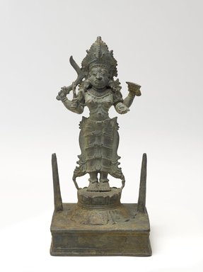 Standing Kali, 17th century. Bronze, 8 7/8 x 3 1/2 in. (22.5 x 8.9 cm). Brooklyn Museum, Gift of Dr. Samuel Eilenberg in honor of Dr. Bertram H. Schaffner, 87.185. Creative Commons-BY