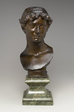 Olin Levi Warner (American, 1844-1896). Maud Morgan, 1880. Bronze with marble base, 23 1/2 x 8 1/2 x 11 in. (59.7 x 21.6 x 27.9 cm). Brooklyn Museum, Gift of the Estate of Mrs. Olin L. Warner, 87.193.1. Creative Commons-BY