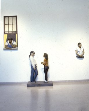 John Ahearn. Hazel, from Evie and Hazel, 1986-1987. Oil on cast reinforced fiberglass, wood, fiberglass, 55 3/4 x 27 3/4 in. (141.6 x 70.5 cm). Brooklyn Museum, Gift of Cheryl and Henry Welt in memory of Abraham Joseph Welt, 87.194.2b. © John Ahearn