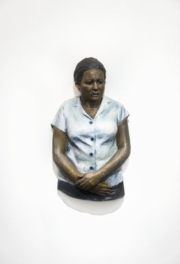 John Ahearn. Luis' Mother, 1986-1987. Oil on reinforced polydam, 33 x 20 x 8 in. (83.8 x 50.8 x 20.3 cm). Brooklyn Museum, Gift of Cheryl and Henry Welt in memory of Abraham Joseph Welt, 87.194.3. © John Ahearn
