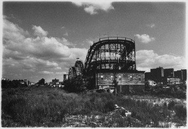 Anita Chernewski (American, born 1946). Coney Island (Thunderbolt), 1987. Gelatin silver photograph, sheet: 5 13/16 x 7 3/8 in. (14.8 x 18.7 cm). Brooklyn Museum, Gift of the artist, 87.200.2. © Anita Chernewski