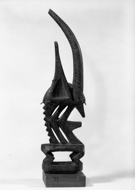 Bamana. Dance Headdress (Ci-wara), late 19th-early 20th century. Wood, metal, 16 3/4 x 2 7/8  x 4 5/8 in. (42.5 x 7.3  x 11.7 cm). Brooklyn Museum, Gift of Dr. and Mrs. Abbott A. Lippman, 87.217.2. Creative Commons-BY
