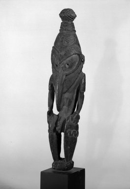 Figure. Wood, 8 1/4 x 2 1/4 x 1 5/8 in. (21 x 5.7 x 4.1 cm). Brooklyn Museum, Gift of Marcia and John Friede and Mrs. Melville W. Hall, 87.218.35. Creative Commons-BY