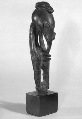 Figure. Wood, 6 3/4 x 1 5/8 x 2 1/8 in. (17.1 x 4.1 x 5.4 cm). Brooklyn Museum, Gift of Marcia and John Friede and Mrs. Melville W. Hall, 87.218.48. Creative Commons-BY