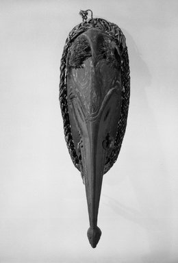Mask, 20th century. Wood, fiber, pigment, shell, 13 1/4 x 5 x 3 1/8 in. (33.7 x 12.7 x 7.9 cm). Brooklyn Museum, Gift of Marcia and John Friede and Mrs. Melville W. Hall, 87.218.8. Creative Commons-BY
