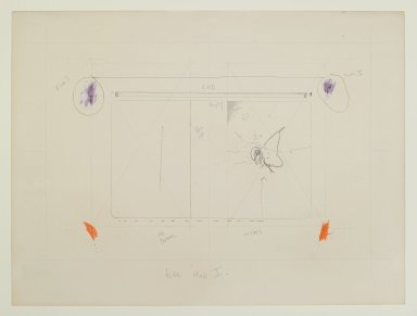 "Pat Steir (American, born 1940). ""Fear Map I,"" 1971. Graphite, colored pencil, and pastel, 15 x 20 in. (38.1 x 50.8 cm). Brooklyn Museum, Gift of Dr. Barry and Shea Gordon Festoff, 87.243.1. © Pat Steir"