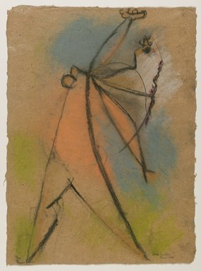 Max Weber (American, born Russia, 1881-1961). The Dancer, June 1946. Pastel on brown, moderately thick, rought-textured laid paper, Sheet: 18 3/16 x 13 1/4 in. (46.2 x 33.7 cm). Brooklyn Museum, Gift from collection Hannelore B. Schulhof, New York, 87.46.1