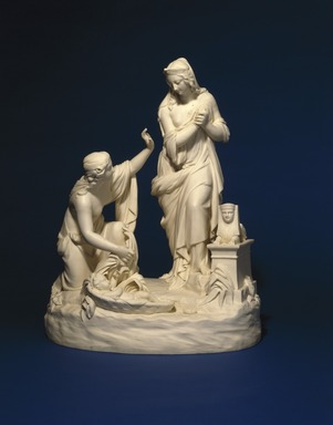 Josiah Wedgwood & Sons Ltd. (founded 1759). Figural Group, The Finding of Moses, 1850-1860. Bisque porcelain, 19 3/4 x 15 1/2 x 11 in. (50.2 x 39.4 x 27.9 cm). Brooklyn Museum, Designated Purchase Fund, 87.74. Creative Commons-BY