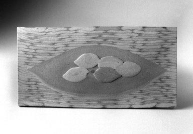 Matsui Kosei (Japanese, 1927-2003). Fallen Leaves, ca. 1980. Ceramic, 5 3/4 x 11 x 1/4 in. (14.6 x 27.9 x 0.6 cm). Brooklyn Museum, Gift of Sidney B. Cardozo, Jr., 87.80. © Estate of Matsui Kosei