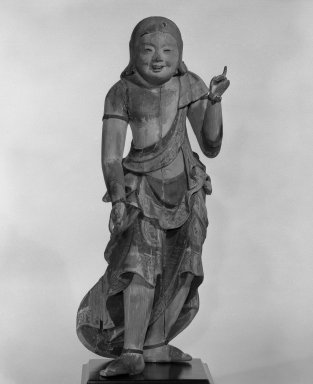 Doji (Altar Attendant), 17th century. Polychromed wood, H (excl. of base): 19 1/2 in. (49.5 cm). Brooklyn Museum, Gift of Deila Schwab in memory of Charles E. Schwab, 87.83. Creative Commons-BY