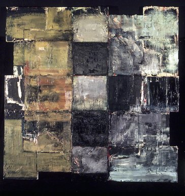 Michael David. Golem II, 1986-1987. Oil, wax, and acrylic on canvas, overall: 100 5/8 x 100 1/2 x 3 7/8 inches (255.6 x 255.3 x 9.8 cm). Brooklyn Museum, Purchase gift of Sidney Singer, Jr., 87.89a-b. © Michael David