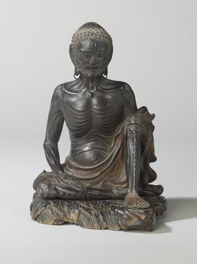 Ascetic Sakyamuni, 16th century. Wood with pigmented lacquer, inlaid crystal, metal, 8 1/2 x 6 1/16 x 7 1/8 in. (21.6 x 15.4 x 18 cm). Brooklyn Museum, Gift of the Asian Art Council, 88.145. Creative Commons-BY
