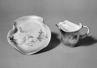 Clement Massier (French, 1844-1917). Cup and Saucer from a Nine Piece Tea Service, ca. 1900. Glazed earthenware, cup height:   2 3/4 in.  (7.0 cm);. Brooklyn Museum, Gift of Emma and Jay Lewis, 88.153.9a-b. Creative Commons-BY