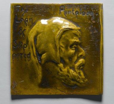 S. Van Campen & Company. Salesman's Sample of Kensington Tiles, 1883-1888. Composition board, 5 13/16 x 5 13/16 x 1/4 in. (14.8 x 14.8 x 0.6 cm). Brooklyn Museum, Anonymous gift, 88.155.5