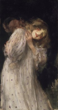 James Jebusa Shannon (American, 1862-1923). The Squirrel, 1896. Oil on canvas, 37 1/8 x 20 3/16 in. (94.3 x 51.3 cm). Brooklyn Museum, Anonymous gift, 88.163