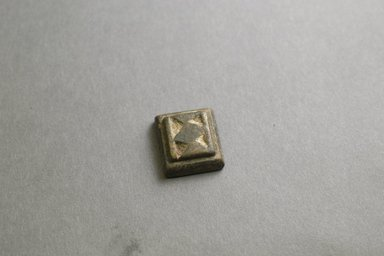 Akan. Gold Weight, 19th-20th century. Copper alloy, 1 x 7/8 x 3/8 in. Brooklyn Museum, Gift of Mr. and Mrs. Franklin H. Williams, 88.192.116. Creative Commons-BY