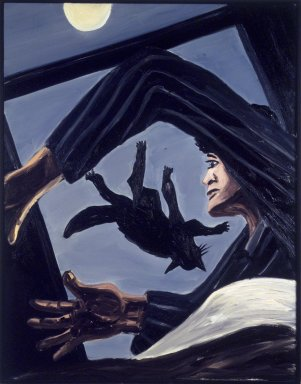 Richard Bosman (American, born India, 1944). Nightmare, 1983. Oil on canvas, 55 1/8 x 43 in. (140 x 109.2 cm). Brooklyn Museum, Gift of Justin Ebersman and Vivian Ebersman, 88.204. © Richard Bosman