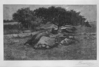Henry Wolf (American, born France, 1852-1916). Canadian Pastoral, 1902. Wood engraving on fine tissue paper, 4 15/16 x 6 3/4 in. (12.5 x 17.1 cm). Brooklyn Museum, Purchased with funds given by Mr. and Mrs. Leonard L. Milberg, 88.50.8