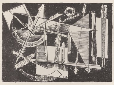 Werner Drewes (American, born Germany, 1899-1984). [Untitled], 1937. Off-set lithograph on off-white wove paper, sheet: 11 15/16 x 9 3/16 in. (30.4 x 23.3 cm). Brooklyn Museum, Purchased with funds given by an anonymous donor, 88.54.7. © Estate of Werner Drewes, With permission from Karen E. D. Seibert of the Werner Drewes Estate at DrewesFineArt.com