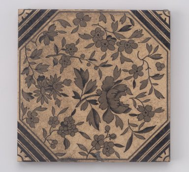 International Tile Company. Tile, 1882-1888. Earthenware, 1/2 x 6 x 6 in. (1.3 x 15.2 x 15.2 cm). Brooklyn Museum, Gift of Diana M. Sawney and Lorraine Gordon, 88.64. Creative Commons-BY