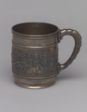 Tiffany & Company (American, founded 1853). Mug (Christening Cup), ca. 1907. Silver, 3 1/2 x 4 1/2 x 3 in. (8.9 x 11.4 x 7.6 cm). Brooklyn Museum, Gift of Helen Wilson, 88.65.6. Creative Commons-BY