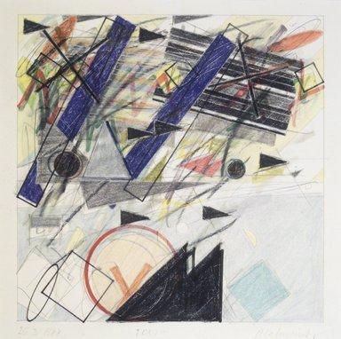 Vladimir Zakrzewski (Polish, born Lodz, 1946). 26.3.1988, 1988. Graphite, colored pencil, oil crayon, mixed media on paper, image: 8 x 8 in. (20.3 x 20.3 cm). Brooklyn Museum, Gift of Ewa and Armond Bartos, Jr., 88.75.5. © Jan Zakrzewski
