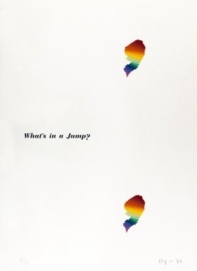 Ay-O (Japanese, born 1931). What's in a Jump?, 1966. Silkscreen on white wove paper, 29 1/4 x 21 1/2 in. (74.3 x 54.6 cm). Brooklyn Museum, Gift of Richard J. Kempe, 88.79.4. © Ay-O